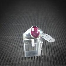Ring Gr. 59 Silber 925 mit Turmalin Cabochon aus Madagaskar