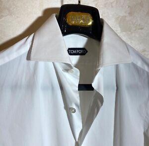 Tom Ford 100% White Cotton Shirt Size 39/15 1/2