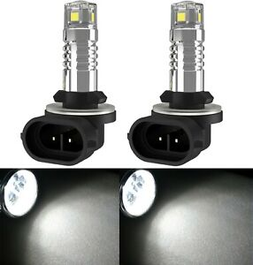 LED 20W 889 H27 White 5000K Two Bulb Light Front Turn Signal Backup Replacement