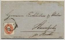 Österreich 1862 5kr, Brief (mit vollem Inhalt) INNSBRUCK (Tirol) nach HESELGEHR