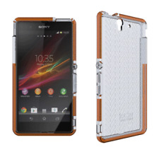 TECH 21 D30 IMPACT HERRINGBONE CASE COVER FOR SONY XPERIA Z - CLEAR - T21-3213