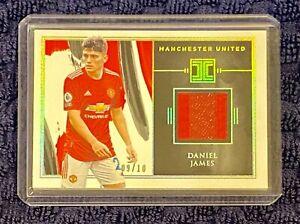 DANIEL JAMES -- 2020-21 Impeccable 2-Tone GAME WORN PATCH #/10 -- Manchester Utd