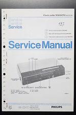 Philips Clock-Radio 90AS470 Original Manuel de Service/Manuelle/Amplificateur !