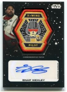 2019 Star Wars Journey to The Rise of Skywalker Greg Grunberg Patch Auto 2/10