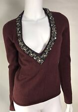 Nwt Christopher Pischer 100% Cashmere Sweater SZ M Retail495$ WithCristal Decor