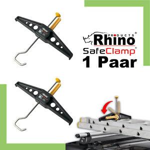 Rhino SafeClamp RAS21P Leiterhalter für Dachträger Leitersicherungssystem Klemm
