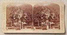 Antique Underwood Stereoview Card Garden Palace of Governor Macao, China 1900