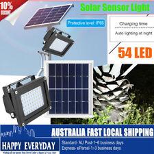54 LED Solar Panel Floodlight Waterproof Night Sensor Security Garden Yard Path