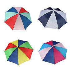 Mini Foldable Sun Umbrella Hat Golf Fishing Camping Headwear Hand Free Cap
