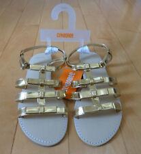 NWT Gymboree Size 2 ISLAND HOPPER Gold Metallic Bow Sandals Summer 2016 $32.95