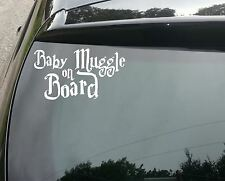 Little muggle a bordo Lindo Harry Potter Gracioso Coche Decal Sticker