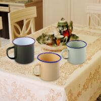 Emaille Becher Mug Metall Tasse Tee Kaffeebecher Enamel Cup Reise Camping 300ml