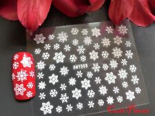 3D Christmas White Snowflakes Nail Art Stickers Decal Xmas Sparkle Shimmer 055x