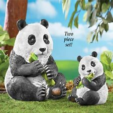 Mother and Baby Panda Bear 2 Pc. Outdoor Garden Statue Set