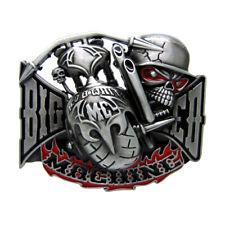 Tête de mort fantôme gothique Western Boucle de ceinture en métal pour