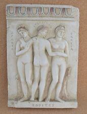 Three Graces Charites sculpture great relief Aglaea Euphrosyne Thalia