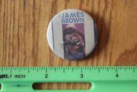 Rare Vintage Pin back button JAMES BROWN concert tour badge round