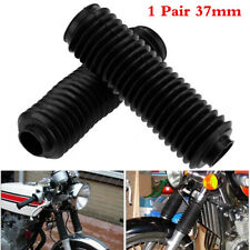 1 Pair Motorcycle Anti Dust Fork Boots Guard Protector Black Dirt Bike Bike 37mm
