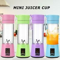 380ml Portable USB Rechargeable Electric Juicer Bottle Cup Fruit Blender Mixer