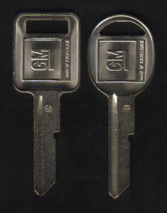 GM 2 1968 1972 1976 1980 Logo Key Blanks
