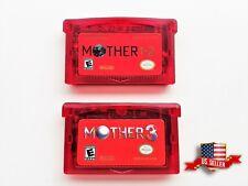 Mother 1 + 2 + 3 Cartridge Set - (English) GBA Game Boy Earthbound (USA Seller)