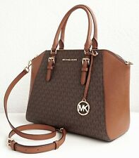 Michael Kors Bag Handbag Ciara LG Satchel Braun New