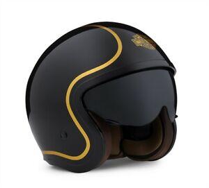 Harley-Davidson Gloss Black Bougie Sun Shield 3/4 Helmet 98174-20EX