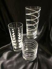 Mikasa Cheers Glass 2 Tall Highball 1 Short Old-Fashioned Beverage Service Ware