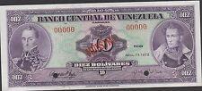 Venezuela 10 Bolivares 4.111972 P 51s Specimen Uncirculated Banknote