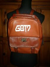 New GOT7 Leather Backpack Travel Bag Students Back To School Backpack Fans Gift