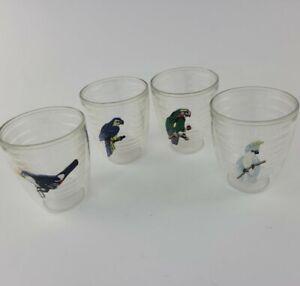 Tervis Tumbler Set Of 4 Parrot / Bird Insulated Plastic Cups 12 oz