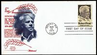 US 1526 Robert Frost Poetry 1974 Fleetwood First Day Cover F1526-1
