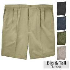 Big & Tall Men's Haggar Pleated Casual Shorts Expandable Waist Sizes 44 - 60