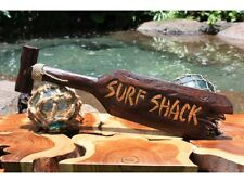 Surf Shack Wood Wall Decor Sign Paddle Beach Tropical