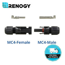 Renogy 1 Pair of MC4 Female and Male Solar Panel Cable Connectors