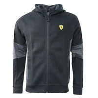 Puma SF Ferrari Hooded Sweat Jacket Zip Up Mens Jumper Black 761979 02 T3