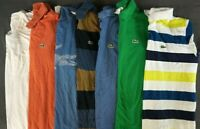 LACOSTE Lot of 7 Men's Short Sleeve Cotton Polo Shirts Size 7 / US 2XL
