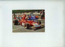 Clay Regazzoni Ferrari 312 B3 1974 Firmado Vintage POSTCARD CARTOLINA 1