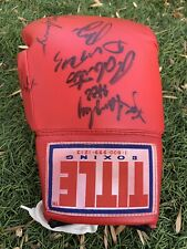 TITLE SIGNED AUTOGRAPHED AUTO BOXING GLOVE
