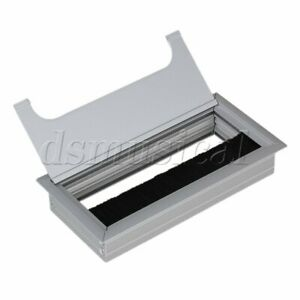 160x80mm Metal Alloy Rectangle Computer Desk Grommet Wire Cable Organizer
