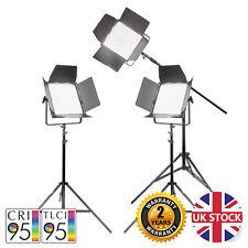 VNIX 1500S Three Head Boom Kit LED Panel Video Lights Remote Interview 5600K