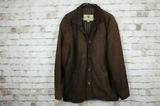 Hide Park Brown Leather Jacket Size Medium No.M119 28/3
