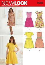 NEW LOOK SEWING PATTERN Misses' Dress with Neckline Variations SIZE 10 - 22 6262