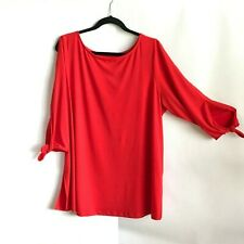 Jessica London Red Slip Sleeve Tunic Top, Size 18/20