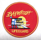 """Baywatch Lifeguard Red Round Logo 4"""" Embroidered Patch- FREE S&H (BWPA-001)"""