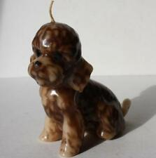 Poodle Puppy or Doodle Puppy Candle-Vintage 4 Inches Tall-Real Brown Cutie-Vtg
