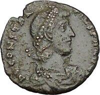 CONSTANTIUS II Constantine the Great son Ancient Roman Coin Battle Horse i50726