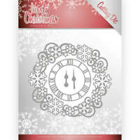 Jeanines Art /Craft Die/Cutting/Lovely Clock Frame / Snowflake /JAD10080