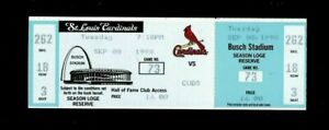 9/8/1998 Mark McGwire Homerun RECORD 62 HR FULL SEASON TICKET Stub