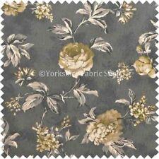 Telas y tejidos grises florales de poliéster